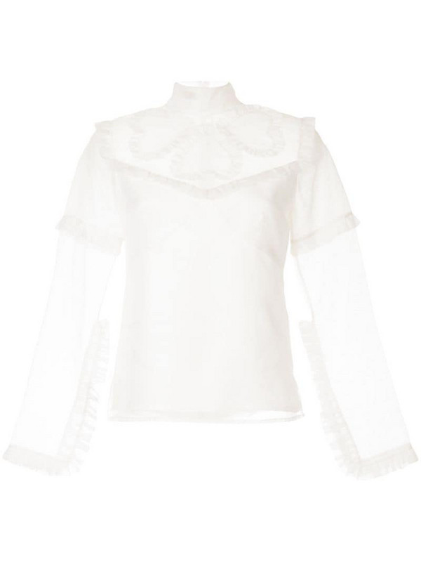 Macgraw Queen of Hearts blouse in white
