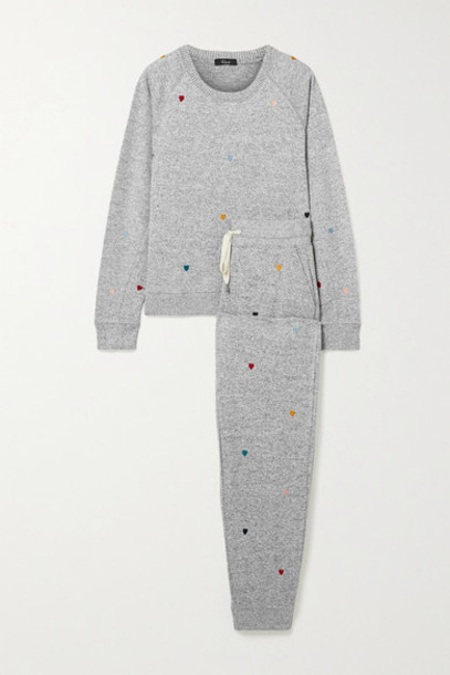 Rails - Mika Oakland Embroidered Knitted Pajama Set - Gray