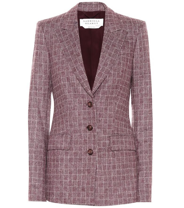 Gabriela Hearst Olga checked wool-blend blazer in red