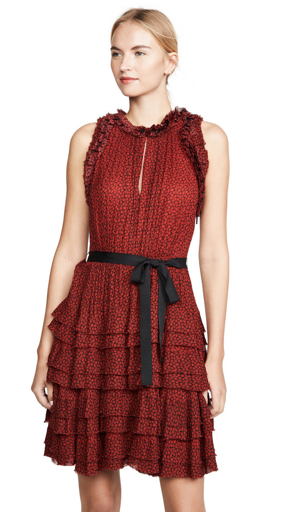 Jason Wu Sleeveless Floral Ruffle Dress in multi