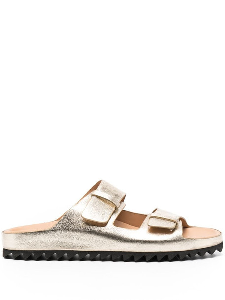 Officine Creative metallic-tone leather sandals in gold
