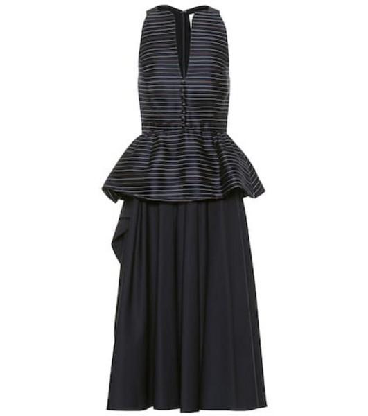 Rosie Assoulin Cotton-blend midi dress in blue