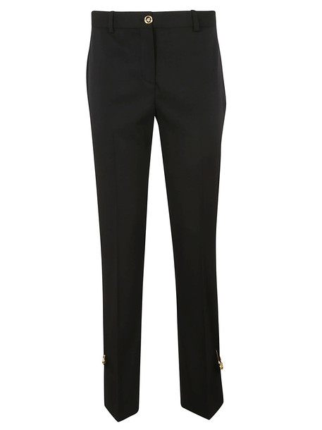 Versace Safety Pin Embellished Trousers in black
