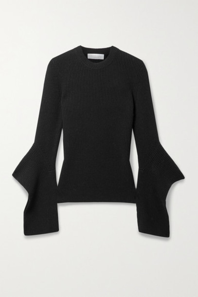 Michael Kors Collection - Draped Ribbed Cashmere Sweater - Black