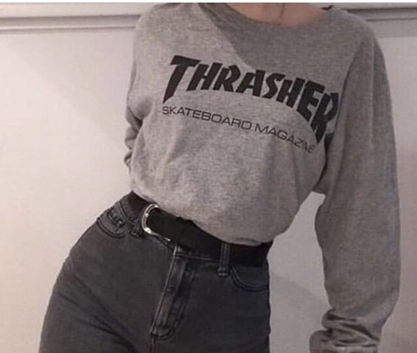 shirt thrasher grey long sleeve grey thrasher long sleeve shirt