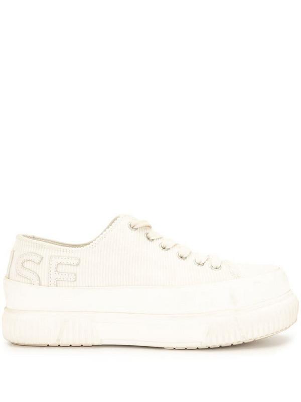 Monse x Both corduroy platform sneakers in neutrals