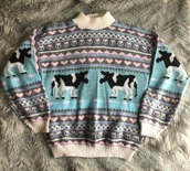 sweater,cow,colorful,harry styles