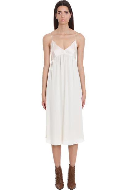 Theory Dress In Beige Silk