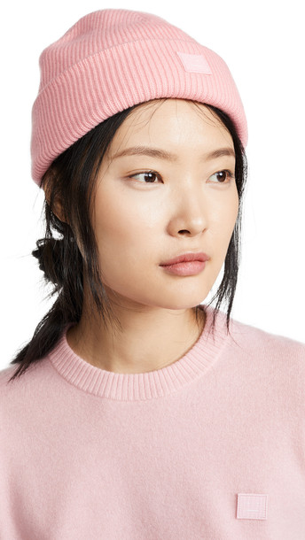 Acne Studios Kansy Beanie Hat in pink