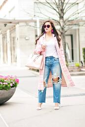 whatever is lovely – a houston life and style blog by lynne gabriel,blogger,coat,t-shirt,jeans,bag,shoes,sunglasses,jewels