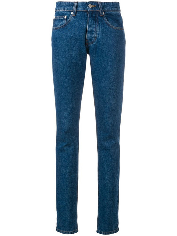 AMI Paris Slim Fit 5 Pockets Jeans in blue