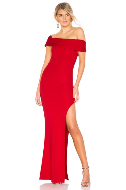 Lovers + Friends Marigold Gown in red