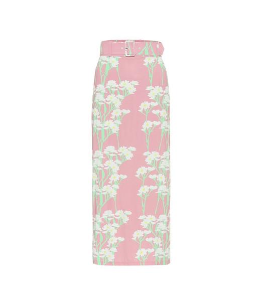 Bernadette Monica stretch-jersey midi skirt in pink