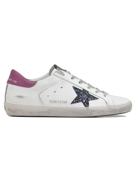Golden Goose Superstar Sneaker in purple / white