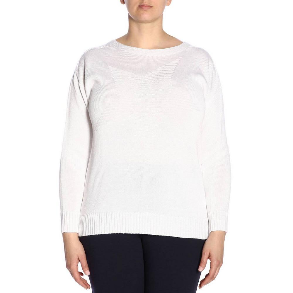Marina Rinaldi Sweater Sweater Women Marina Rinaldi in white
