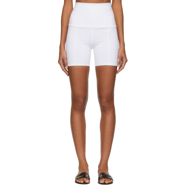 Live the Process White Geometric Shorts