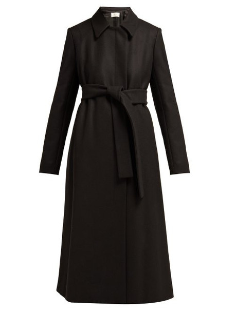 The Row - Toomana Single Breasted Wool Blend Coat - Womens - Black