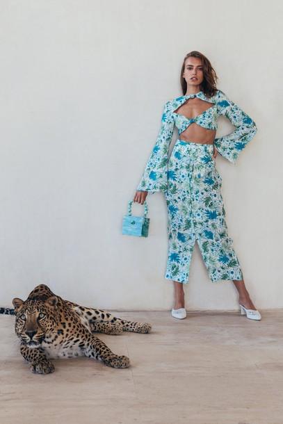 Cult Gaia Hera Skirt - Azure Multi                                                                                               $398.00 USD