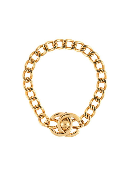 Chanel Pre-Owned 1996 CC turn-lock chain bracelet in gold