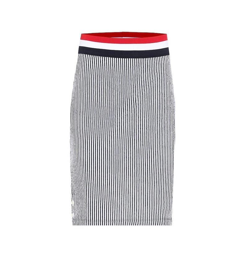 Thom Browne Striped cotton-jersey midi skirt