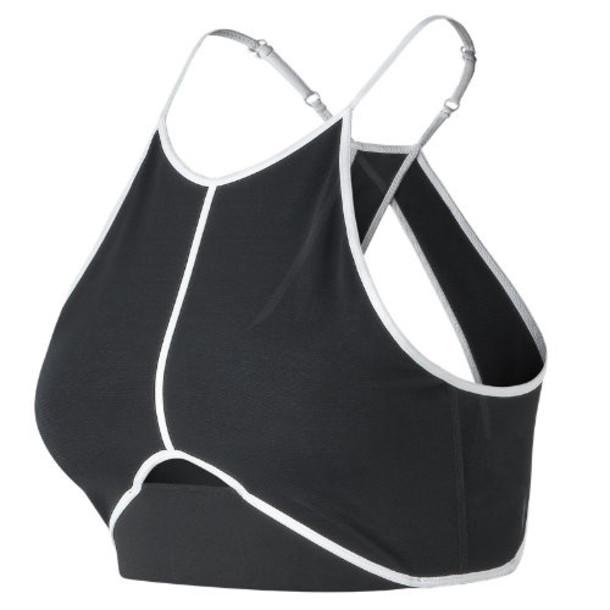 New Balance 91101 Women's Energize Crop Bra - Black/White (WT91101BKW)