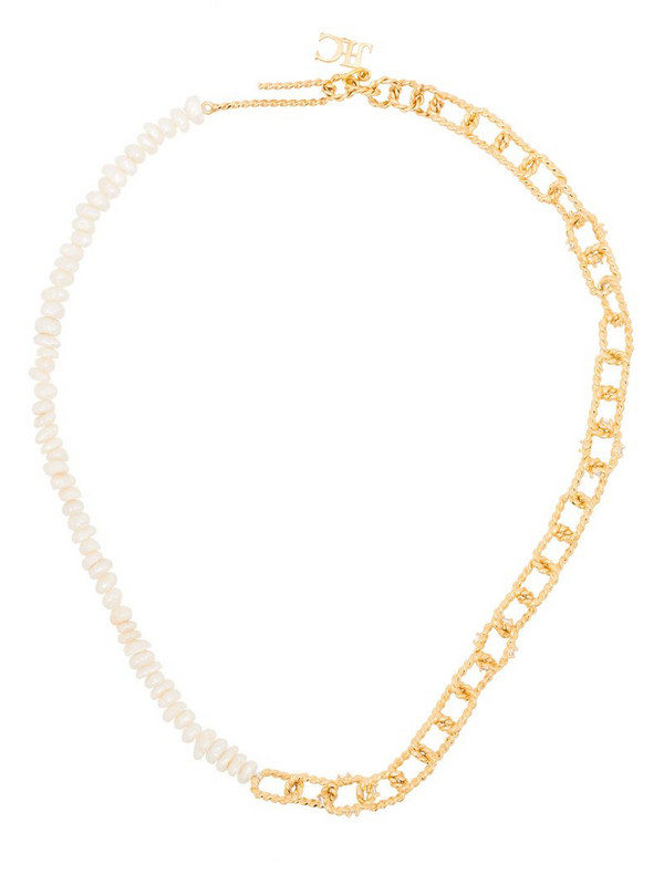 Joanna Laura Constantine two-tone clasp necklace in gold