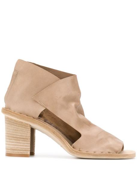 Officine Creative Sidoine 70mm peep-toe sandals in neutrals