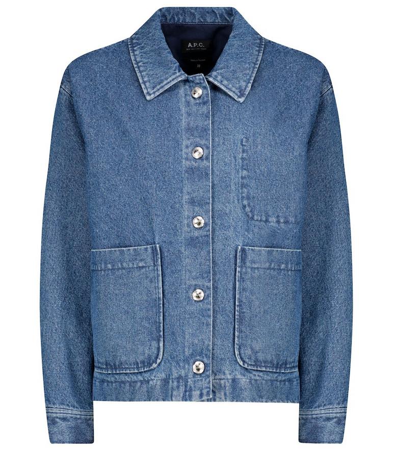 A.P.C. Nikkie denim jacket in blue
