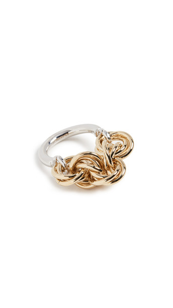JW Anderson Multi Links Ring in gold / silver