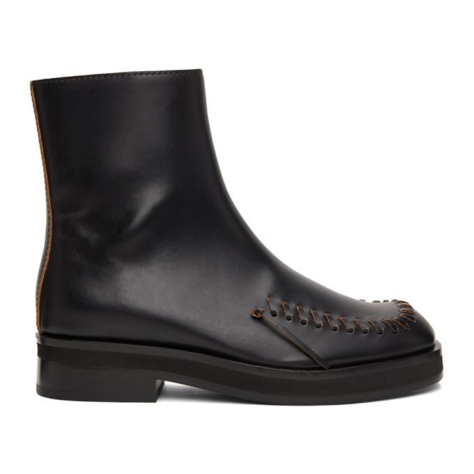 JW Anderson Black Antick Boots in nero