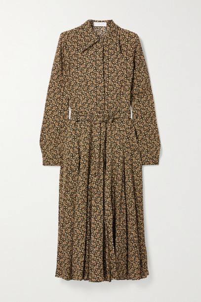 Michael Kors Collection - Paisley-print Silk Crepe De Chine Shirt Dress - Brown