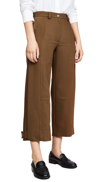 See by Chloe Cropped Trousers in brown