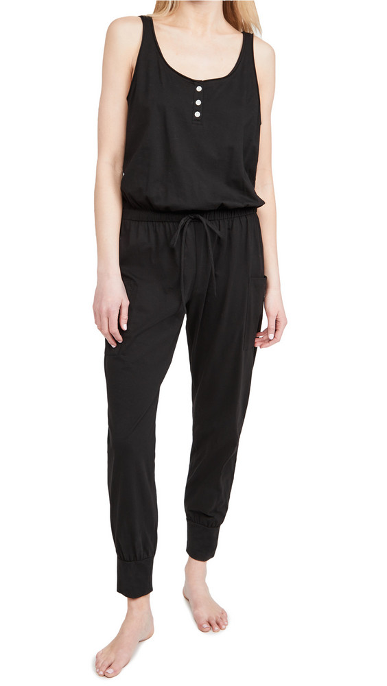 Eberjey The Brie Cargo Jumpsuit in black