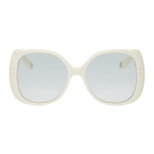 Gucci Off-White Oversized Circular Sunglasses