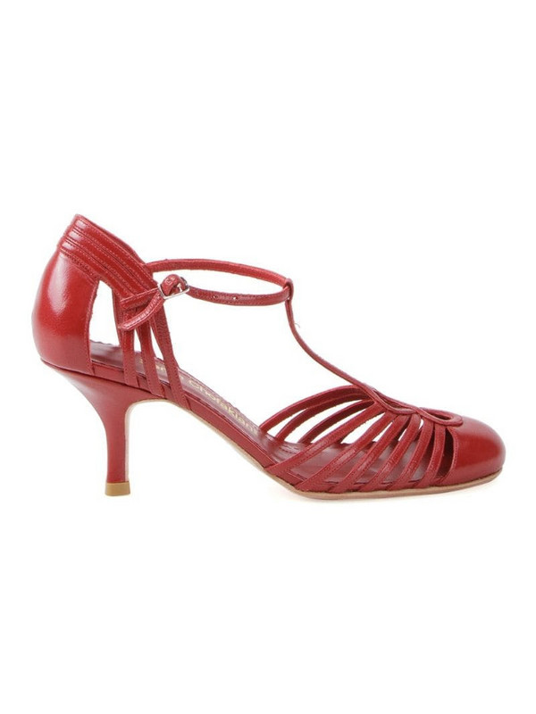 Sarah Chofakian strappy pumps in red