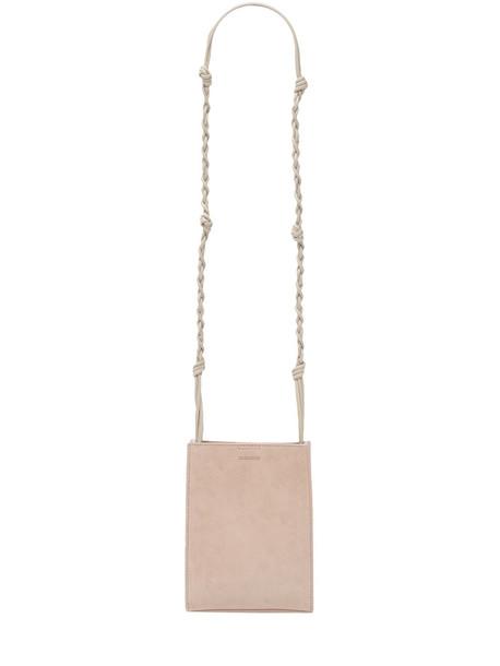 JIL SANDER Sm Tangle Suede Shoulder Bag in blush