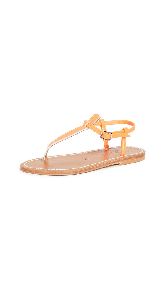 K. Jacques Picon Sandals in orange