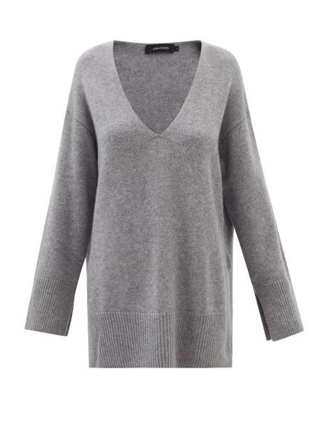Lisa Yang - Victoria V-neck Cashmere Tunic Sweater - Womens - Grey