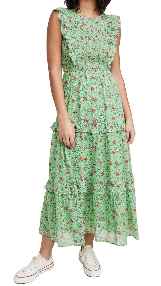 Banjanan Iris Dress in green