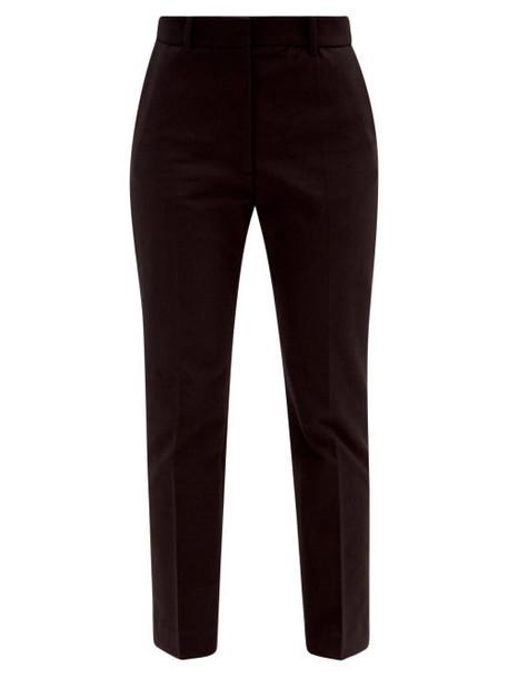 Joseph - Coleman Straight-leg Gabardine Trousers - Womens - Black