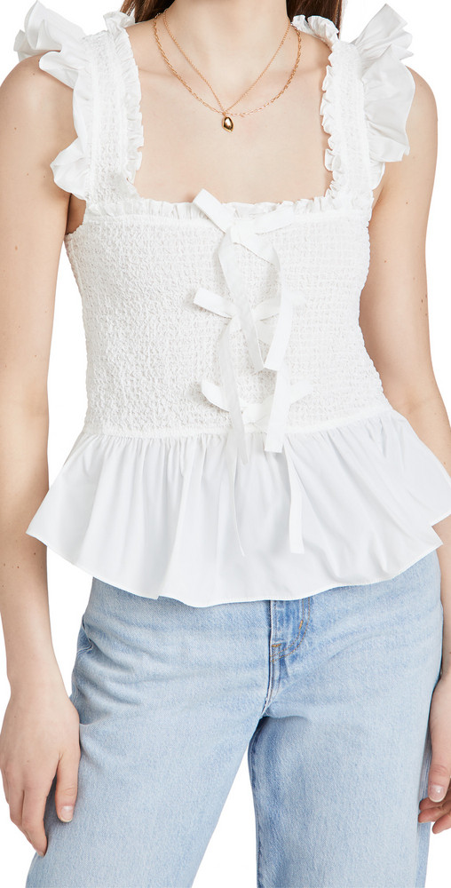 Cinq a Sept Dorothy Top in ivory
