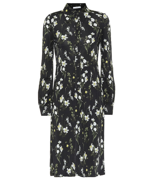 Erdem Tullio floral jersey midi dress in black