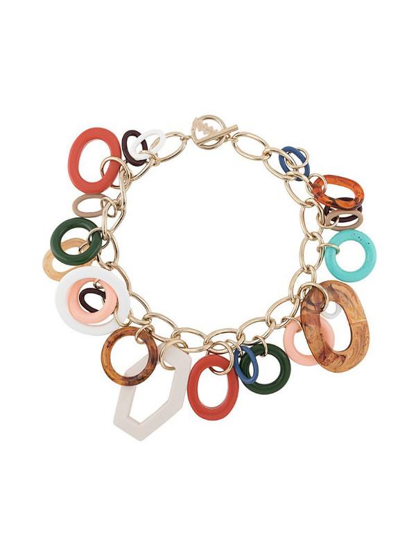 M Missoni multi-pendant necklace in brown
