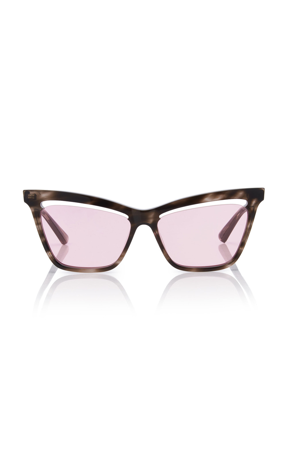 MCQ Sunglasses Angular Acetate Cat-Eye Sunglasses in pink
