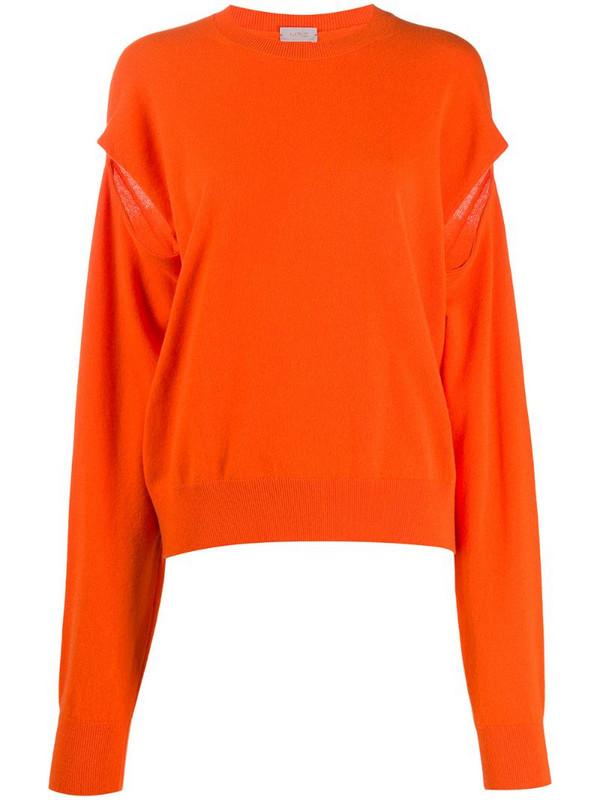 MRZ slit-sleeve knit jumper in orange