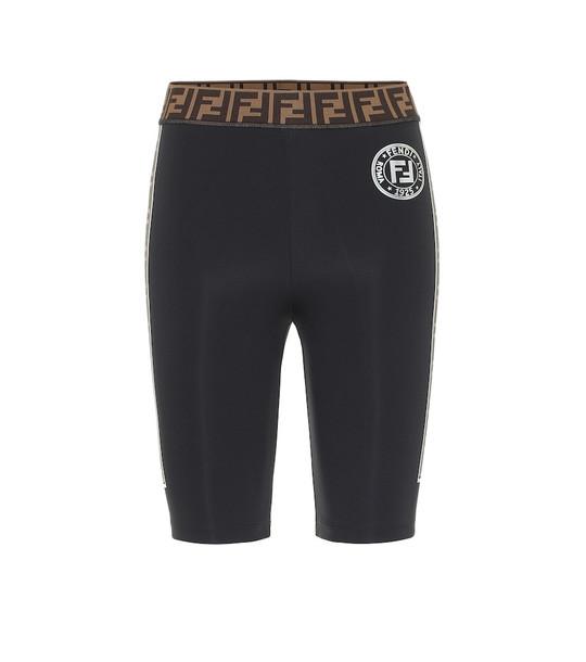 Fendi Short logo leggings in black