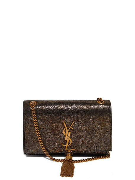 Saint Laurent - Kate Metallic Leather Cross Body Bag - Womens - Gold