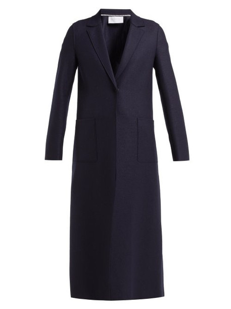 Harris Wharf London - Pressed Wool Overcoat - Womens - Navy