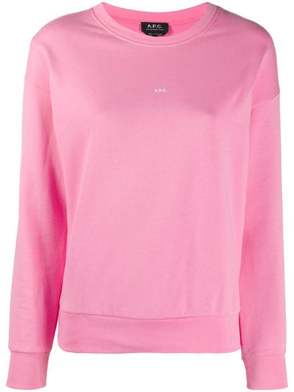 A.P.C. mini logo sweatshirt in pink