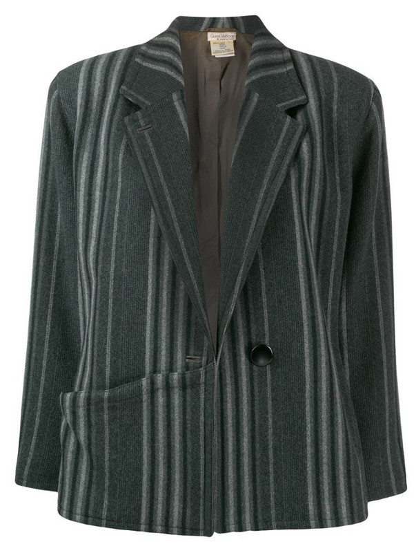 Versace Pre-Owned 1980's striped jacket in grey